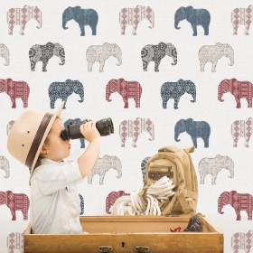 Tapeta w słonie do pokoju dziecka dla chłopca