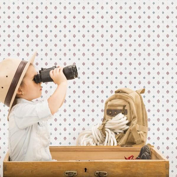 Chłopięca tapeta flizelinowa do pokoju dziecka geometryczna aranżacje