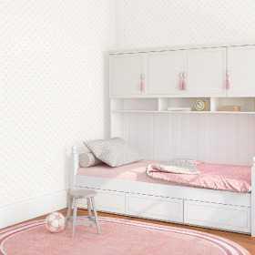Tapety w różowe kropki i groszki dziecięca aranżacje