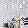 Flizelinowa tapeta geometryczna we wzory na flizelinie zmywalna