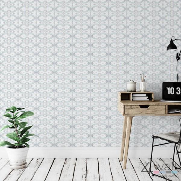 Pomysły na dekoracje w salonie - tapety ścienne geometryczne do pokoju