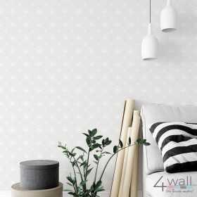Jasno szara tapeta do salonu i sypialni na jednej ścianie aranżacje