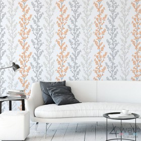 Szaro pomarańczowe tapety w stylu retro