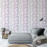Pomysł na pokój młodzieżowy - flizelinowa fioletowa tapeta zmywalna