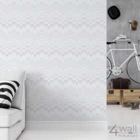 Tapeta w zygzak w stylu retro vintage geometryczna