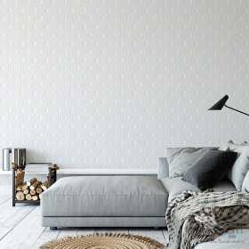 Jasno czara geometryczna tapeta w heksagony do pokoju i sypialni