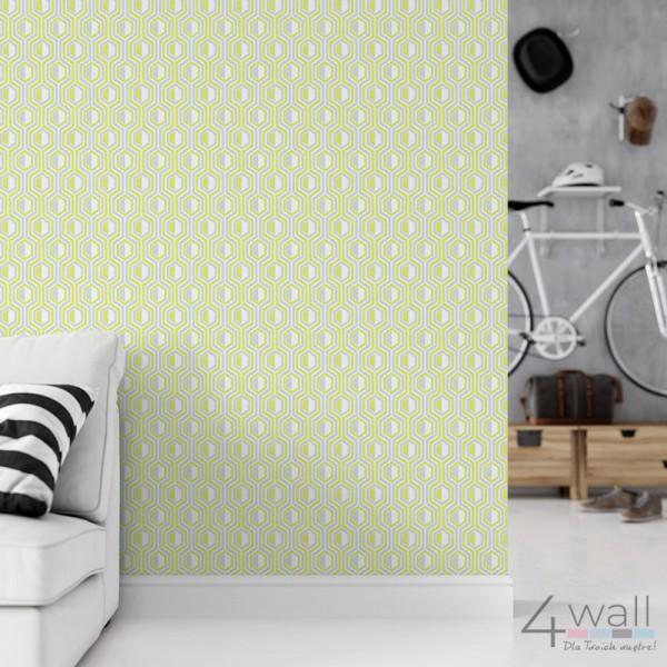 Zielona tapeta geometryczna 3D retro
