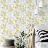 Tapety w żółte kwiaty retro do pokoju