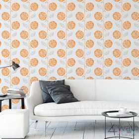 Pomarańczowa tapeta w stylu retro