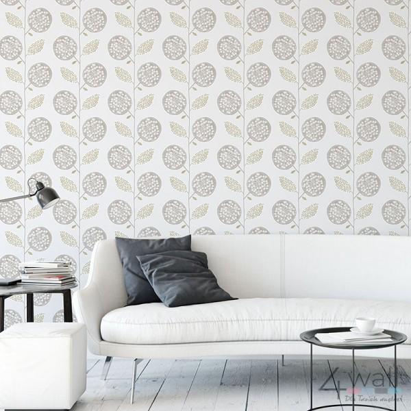 Nowoczesna tapeta do salonu na jednej ścianie