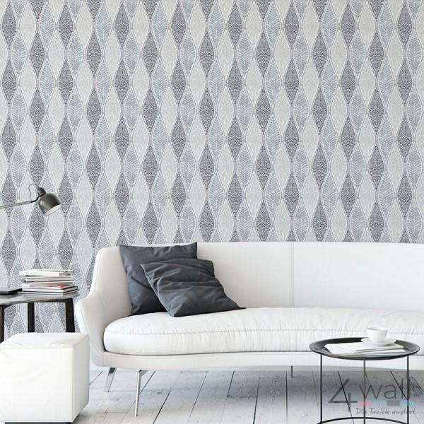 Geometryczne tapety do salonu - pomysły i aranżacje na urządzenie salonu