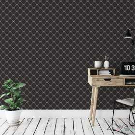 Tapeta czarna we wzory geometryczne