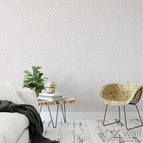 biała tapeta do pokoju chłopca w kotwice