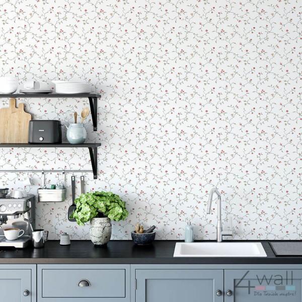Tapety kuchenne w stylu Vintage motyw roślinny kwiaty