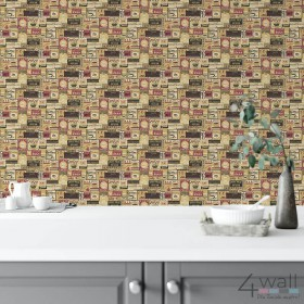 Aranżacje kuchni z tapetą na jednej ścianie