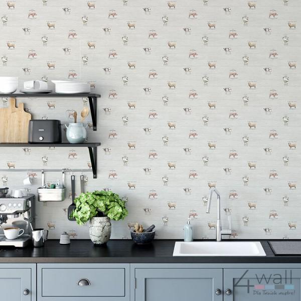 Kuchenna tapeta w stylu Vintage do jadalni