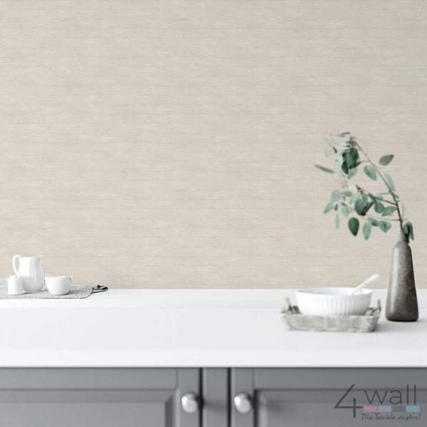 Tapeta na ścianę do kuchni szara w deski