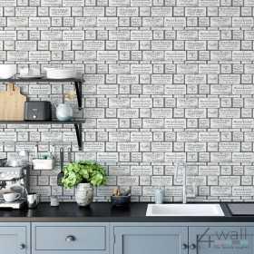 Kuchenna tapeta z napisami inspiracje ściany w twojej kuchni