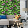 Tapety do sypialni w stylu tropikalnym liście aranżacje