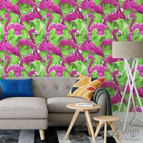 Tapety flamingi na ścianę aranżacje tropikalny wzór