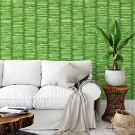 Zielona tapeta imitacja bambus