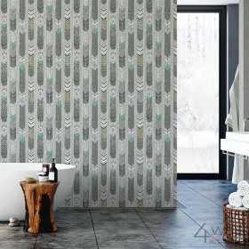 Tapety miętowe do łazienki w stylu nowoczesnym