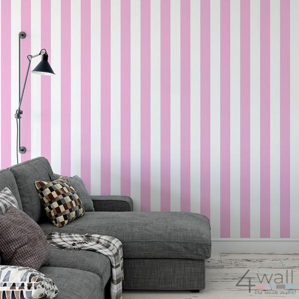 Różowe pasy tapeta do pokoju dziewczynki lub nastolatki