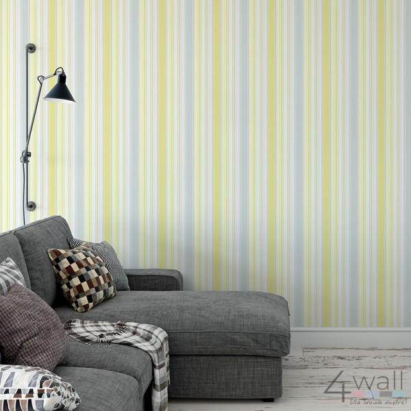 Inspiracje tapety żółte do salonu