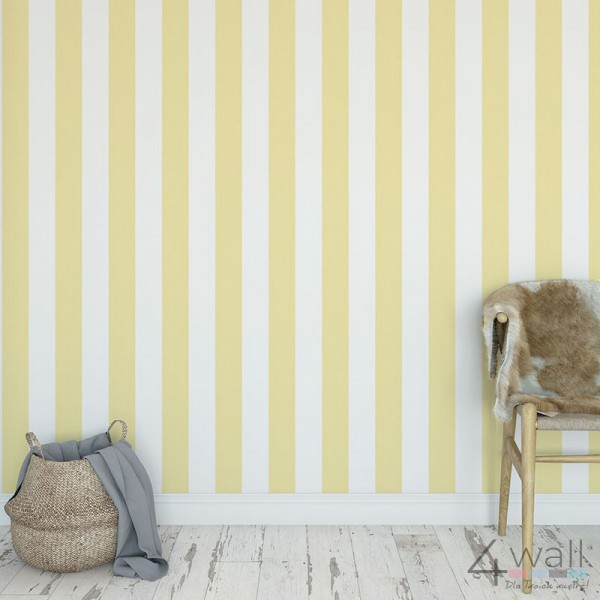 Tapety żółte w pasy