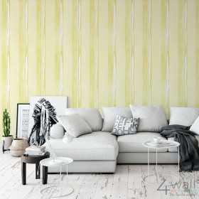 Żółte pasy do salonu tapeta