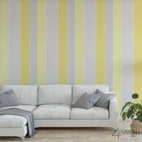 Żółto szara tapeta do salonu aranżacje zmywalnych tapet winylowych