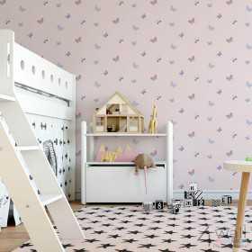 Tapeta w różowe motyle motylki do pokoju dziecka