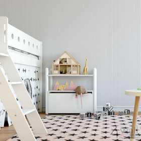 Dziecięca tapeta w szare paseczki