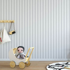 Tapeta w szare pasy do pokoju chłopca dziecięca