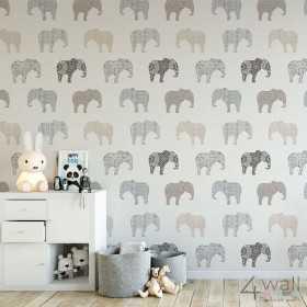 Modne tapety dziecięce aranżacje w słonie