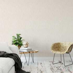 Beżowa tapeta do sypialni aranżacje