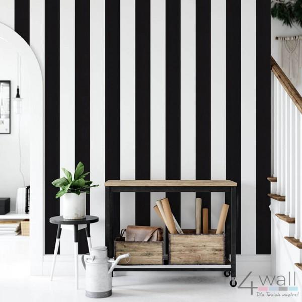 Tapety w czarno białe pasy