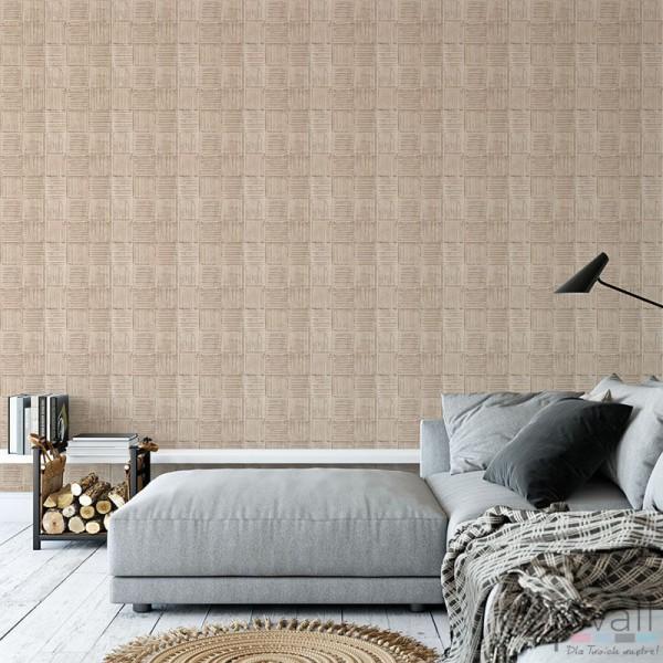 Sypialnia w stylu industrialnym tapeta aranżacje