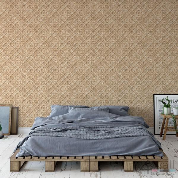 Modna tapeta do sypialni w stylu loft