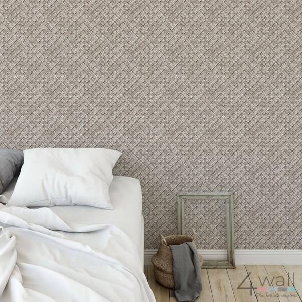 Nowoczesna tapeta do sypialni w stylu industrialnym