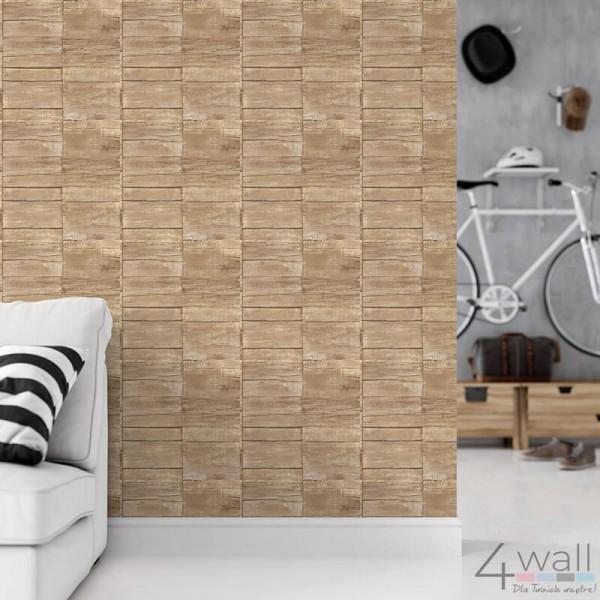 Tapeta imitacja drewna do salonu aranżacje