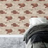 Tapeta na ścianę w cegłę aranżacje do pokoju