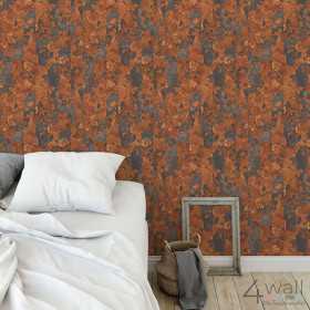 Imitacja rdzy tapeta na ścianę inspiracje