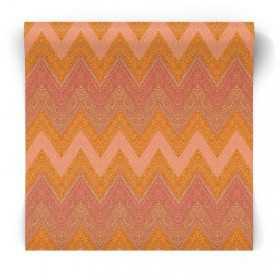Pomarańczowa tapeta geometryczna G67353