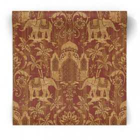 Tapeta w słonie w stylu indyjskim G67361