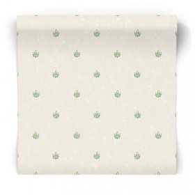Tapeta w małe zielone wzory G67394