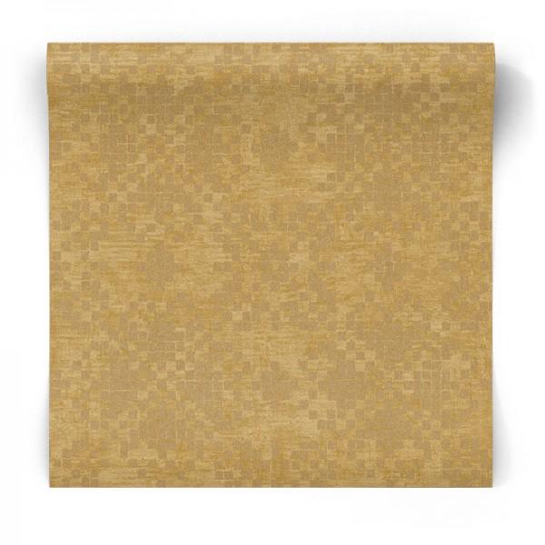 Złota tapeta w mozaikę błyszcząca G67397