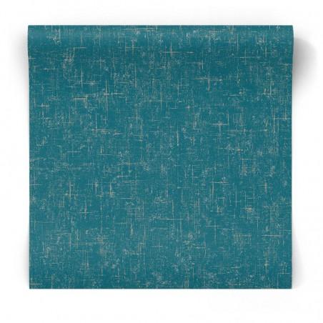 Błyszcząca tapeta niebiesko złota G67404