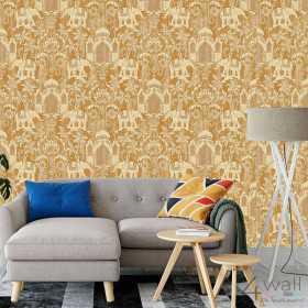 Tapeta marokańska złota aranżacje salonu i pokoju