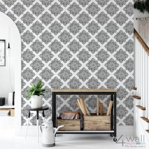 Tapeta czarno biała na ścianę do przedpokoju aranżacje